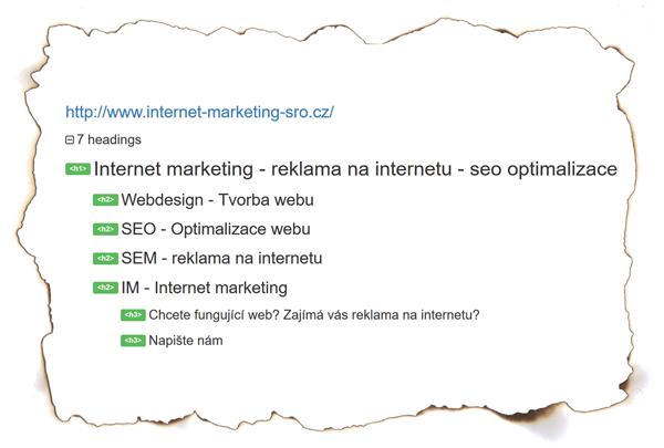 SEO - Struktura webu - Internet Marketing
